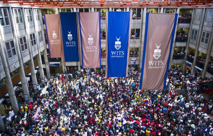 Protesters at Wits.