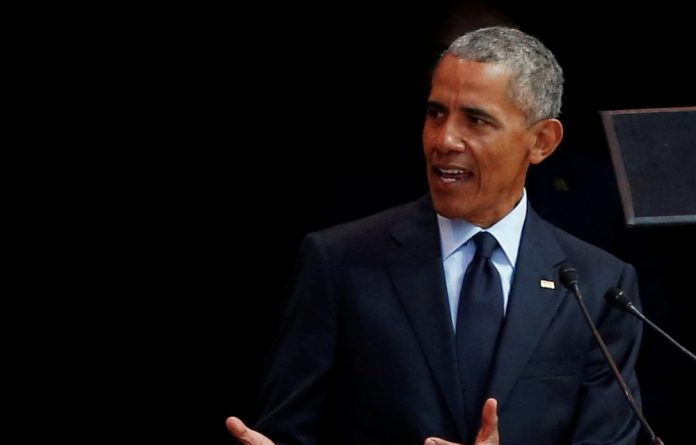 Former US President Barack Obama delivers the 16th Nelson Mandela annual lecture