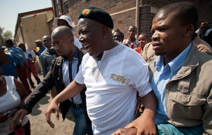 Expelled ANC Youth League leader Julius Malema believes bloodshed will help him get South Africa's land and mineral resources