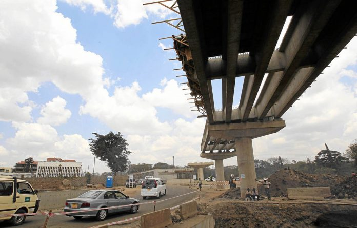 The $330-million Nairobi-Thika highway project is being built by a Chinese company and is funded by the Kenyan and Chinese governments and the African Development Bank.