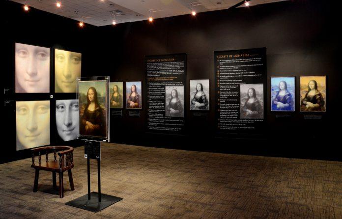 The 25 Secrets of the Mona Lisa exhibit.