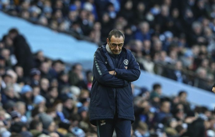 Yesterday's news: Chelsea manager Maurizio Sarri's team was decimated by Manchester City's six goals