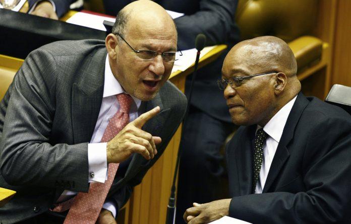 Former finance minister Trevor Manuel and former president Jacob Zuma.