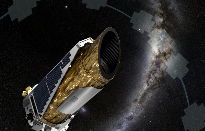 An artist's rendition of Nasa's planet-hunting Kepler spacecraft.