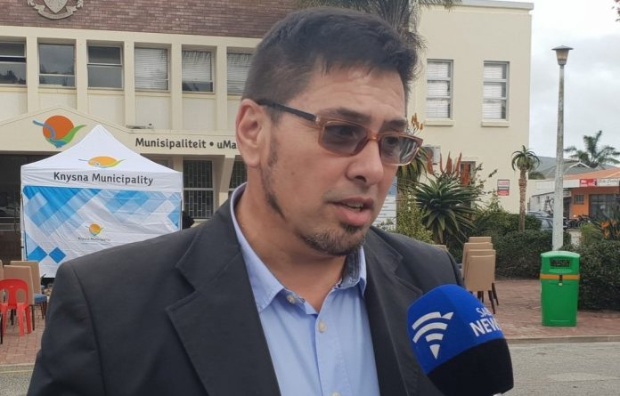"""""""I don't like things to be in limbo. I'm still the mayor of Knysna and there are issues that need to be dealt with. I'd like to get clarity on exactly what's happening"""