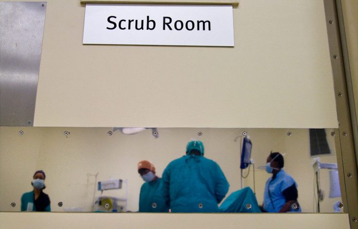 The scrub room in Settler's Hospital in the Eastern Cape. A report by the SIU has found  widespread fraud involving thousands of health department officials in the province