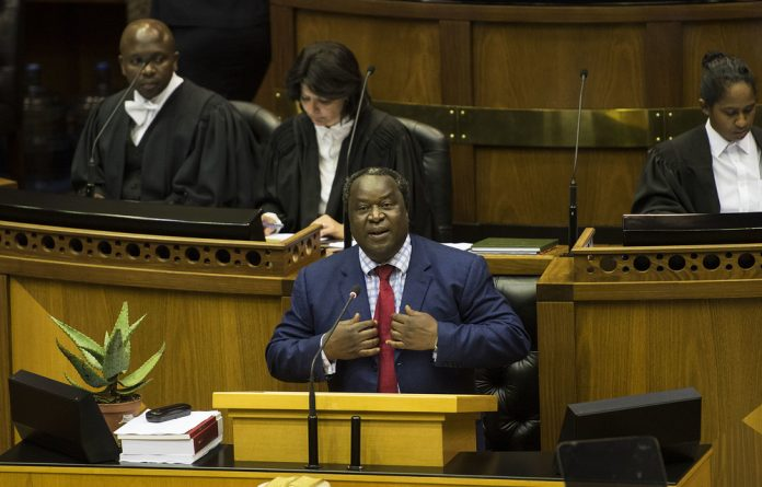 Finance Minister Tito Mboweni delivered a tough