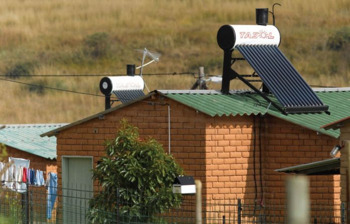The IDC co-funded industries involved in the government's rollout of solar water-heaters in low-cost housing developments.