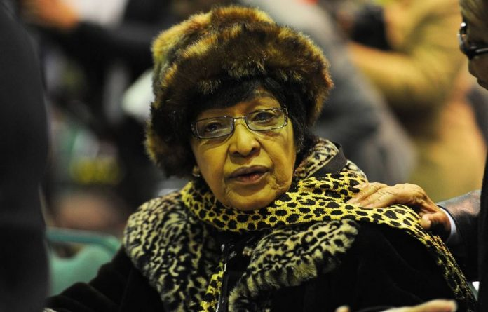 Winnie Madikizela-Mandela at the opening of the ANC's four-day policy conference held at Gallagher Estate in Johannesburg