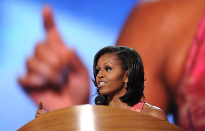 Michelle Obama took a few subtle digs at her husband's rival for the US presidency.