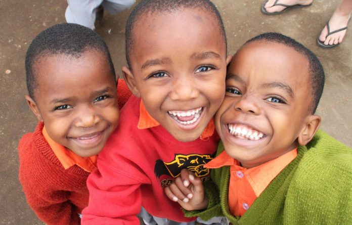 Children from the Cheka School in Tanzania are some of the people who benefitted from Mandela Day efforts in England.