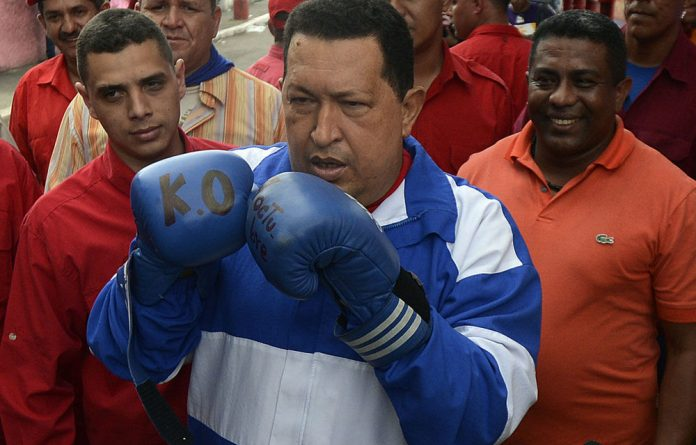 Venezuelan President Hugo Chavez seeking a third six-year term