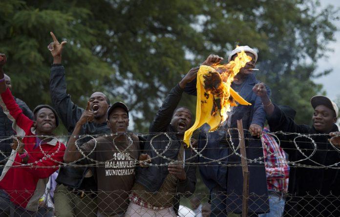 Malamulele residents during an ANC election rally at Malamulele Stadium last year