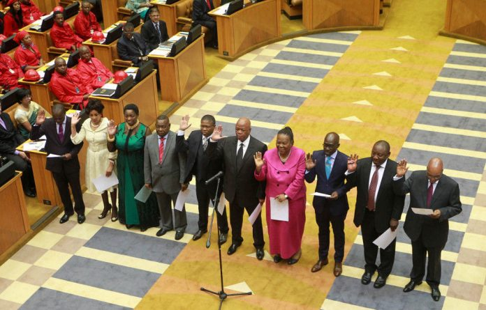 New MPs are sworn in by Chief Justice Mogoeng Mogoeng.