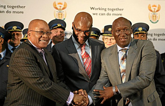 President Jacob Zuma and ex-top cop Bheki Cele.