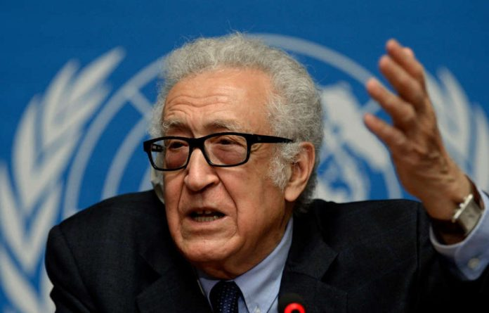 Mediator Lakhdar Brahimi.