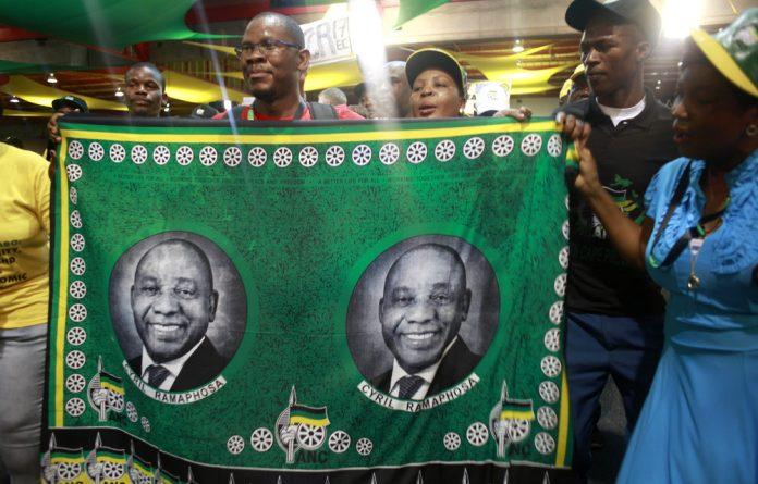 Tightrope walker: Cyril Ramaphosa won by a narrow margin at the ANC national conference at Nasrec