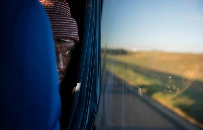 Andile Yawa on the bus from Cala to Centurion