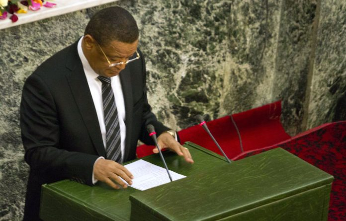 Mulatu Teshome speaks in Addis Ababa after being sworn in as Ethiopia's new president.
