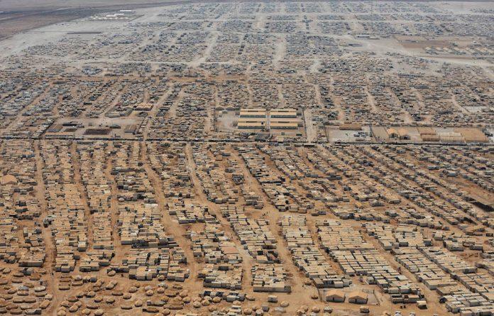 Hopeless: An aerial view of the Zaatari refugee camp