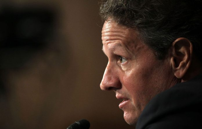 US Secretary of the Treasury Timothy Geithner testifies during a hearing on Capitol Hill on the Libor scandal before the Senate Banking