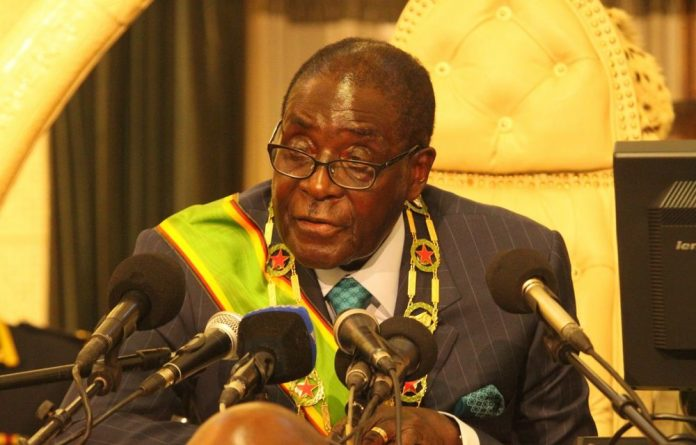 President Robert Mugabe opens Parliament in a file photograph from September 6 2011 in Harare