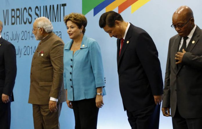 Brics leaders at their summit in Fortaleza