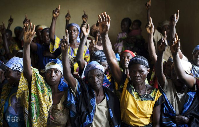 War widows in the town of Rutshuru in the Democratic Republic of Congo are calling for peace