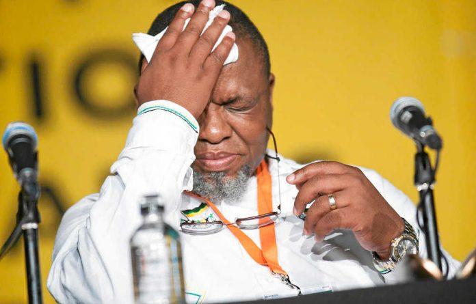 ANC chairperson Gwede Mantashe.