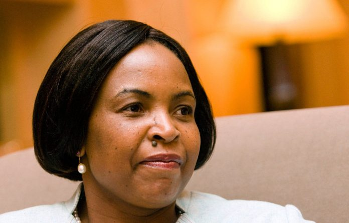 International Relations Minister Maite Nkoana-Mashabane.