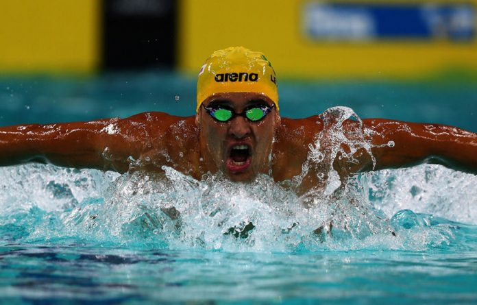 Chad Le Clos opened the evening's swimming on a positive note
