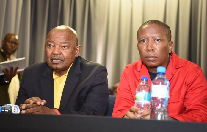 Malema lost his cool and appeared to be chastising Lekota while members of the public were making oral submissions.