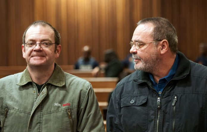 Andre and Mike du Toit appear in court in Pretoria.