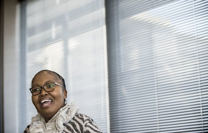 Activist roots: Katlego Mathebe left politics after 1994 to build a career in financial services but felt compelled to return to the cut and thrust of the political arena after Jacob Zuma's rise to power.