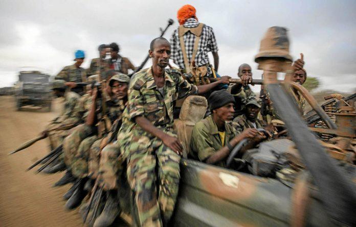 Somali soldiers..