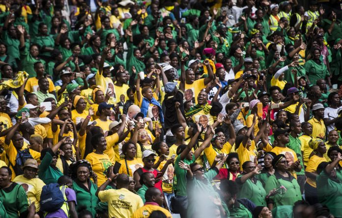 ANC supporters at the launch of the ANC's 2019 election manifesto in Durban on Sunday.