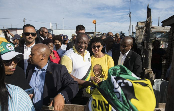 Campaign trail: ANC supporters came from afar to hear President Cyril Ramaphosa when he visited Khayelitsha in the Western Cape