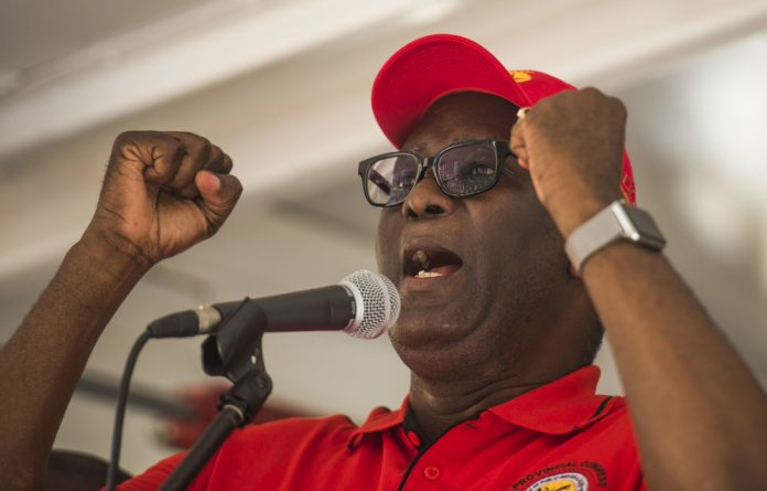 """Zwelinsima Vavi told the crowd: """"We are saying to Cyril Ramaphosa"""
