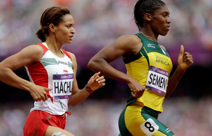 South Africa's Caster Semenya during the Olympics 800m qualifying heat.