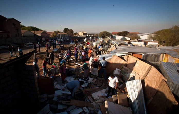 The JMPD has continued evicting squatters in Marlboro