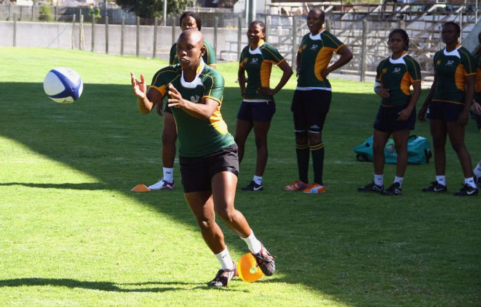 Springbok Women's Lamla Mamoti - who is on the preliminary World Cup squad - in 2011.