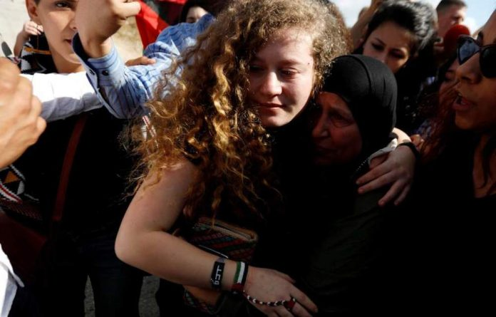 Ahed Tamimi after her release.