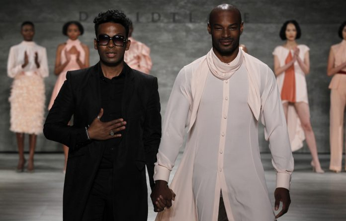 Fashion designer David Tlale unveiled his African-inspired 2015 spring/summer collection at the New York Fashion Week event.