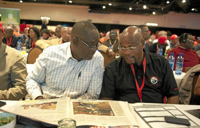 Cosatu general secretary Zwelinzima Vavi and the union's president
