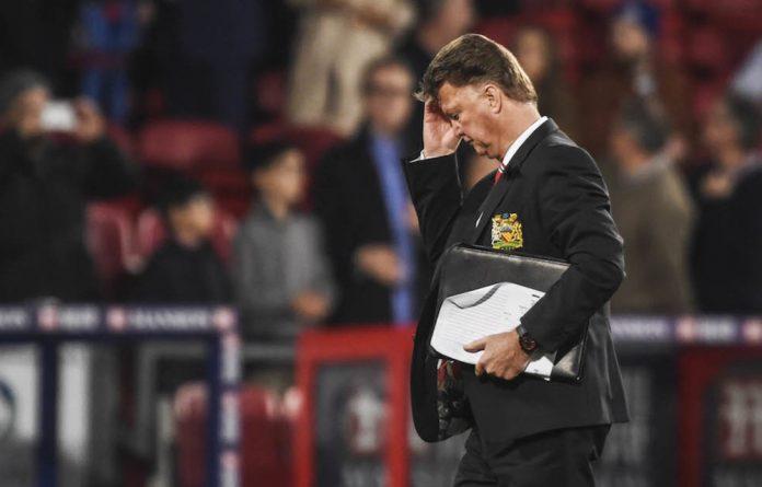 My way: Manchester United's Louis van Gaal.