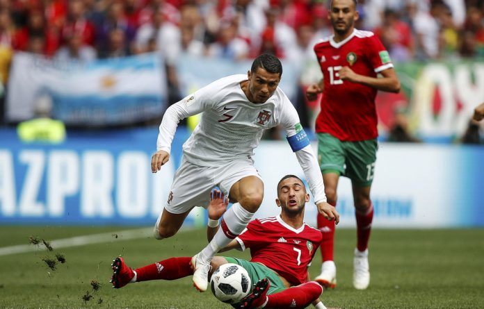 Golden baller: Cristiano Ronaldo has the superstar quality that eludes most members of England's World Cup squad.