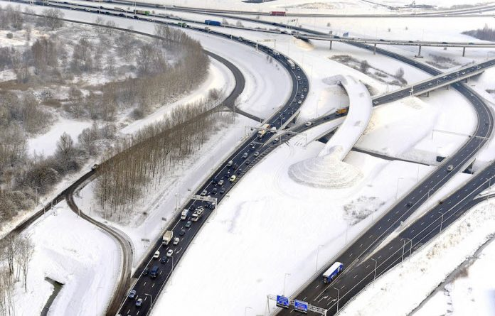 Turning green: Rotterdam has plans to replace the asphalt on their roads with recycled plastic.