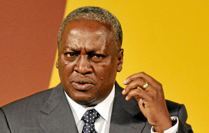 Joy News television said President John Mahama had 50.60% and main rival Nana Akufo-Addo 47.82%.