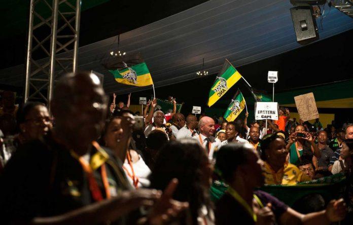 Zuma supporters celebrate his second term.