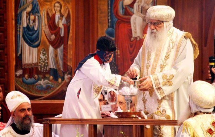 Egyptian caretaker of the Coptic Church Bishop Pachomius